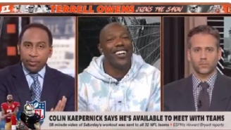 Things Get Awkward On 'First Take' After Terrell Owens Tells Stephen A. Smith 'Max Kellerman Seems Blacker Than You'  Over Colin Kaepernick Takes