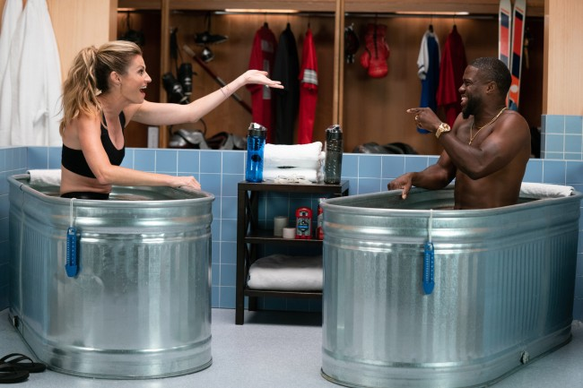 Erin Andrews Joined Kevin Hart In The Ice Tub On Cold As Balls