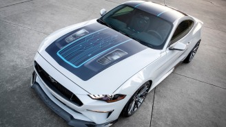Ford Teases Fully Electric Mustang With 900 Horsepower And 6-Speed Manual That You'll Probably Never Drive