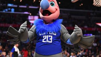 Los Angeles Clippers Mascot Gave A 104-Year-Old WWII Veteran A Wet Willie On Veterans Day