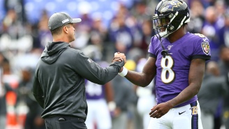 This Mic'd Up Clip Of John Harbaugh Praising Lamar Jackson On The Sideline And Telling Him He 'Changed The Game' Is Incredible Content