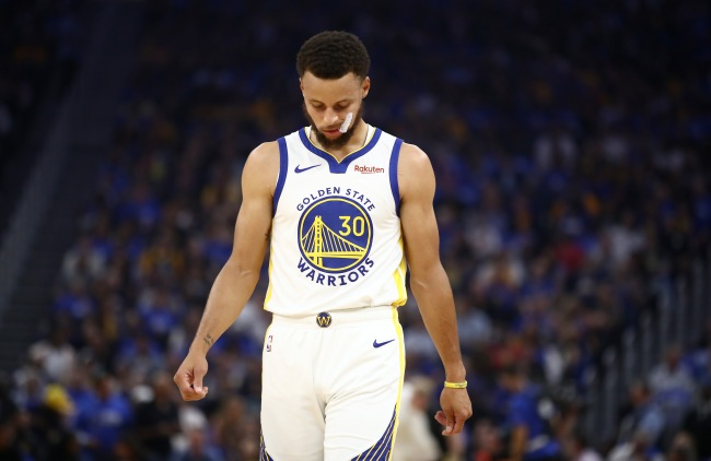 steph curry crying klay thompson injury news