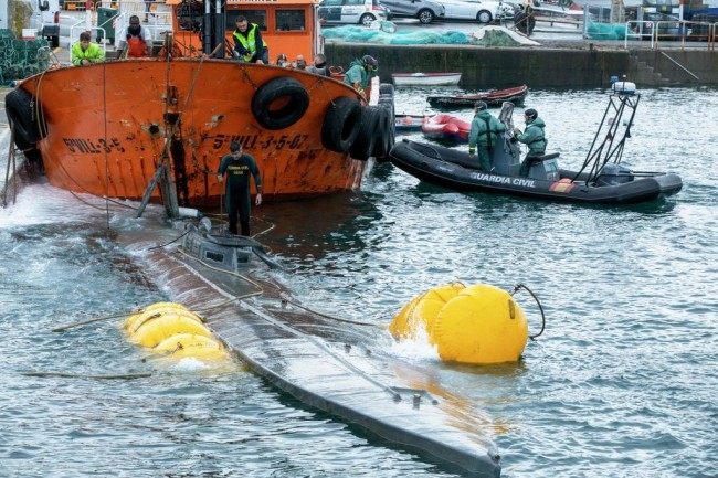 A narco submarine seized off the Spanish coast was carrying three tons of cocaine worth $110 million. The 65-foot drug sub is the largest of its kind captured in Europe.