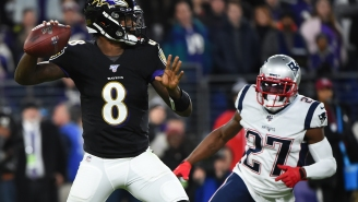 Ravens QB Lamar Jackson Appeared To Be Tipping Plays To The Pats But Reversed Course After Getting Called Out