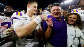 LSU Players Run To Recruits In The Stands After Beating Alabama Telling Them To Come Play For The Tigers