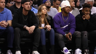 LeBron James Daps Up Kyler Murray At Lakers Game But Fails To Acknowledge Cody Bellinger, Who Dressed As LeBron For Halloween, Sitting Right Next To Him