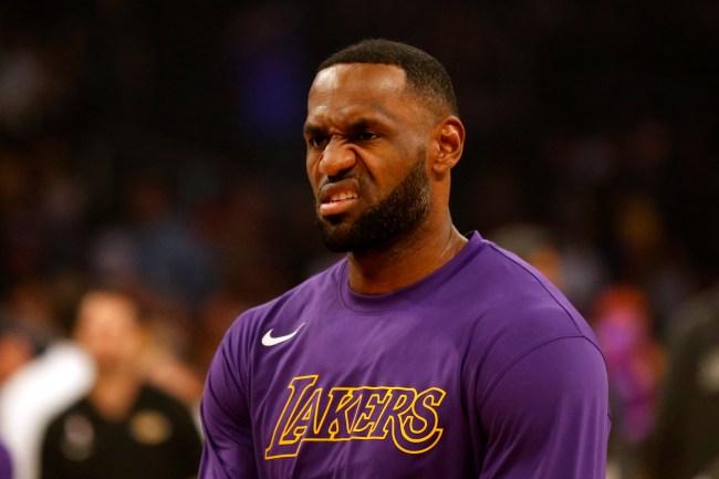 LeBron James game face
