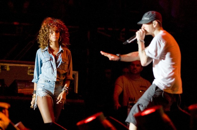 Eminem's verse in 2011 Things Get Worse track sided with Chris Brown and made threats towards Rihanna in the song.