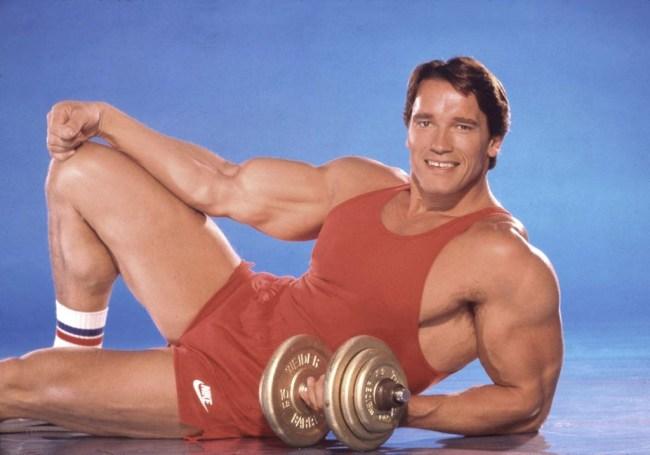 Arnold Schwarzenegger's son Joseph Baena recreates his father's Mr. Universe classic poses.