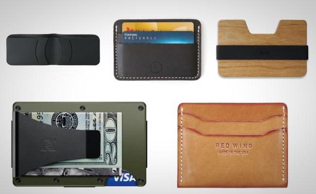 christmas gift ideas slim wallets for men