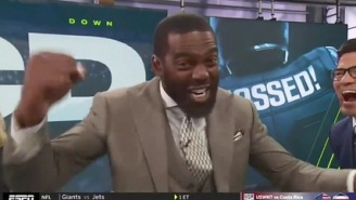 Randy Moss Was Extremely Hyped About Featuring His Son's Catch Against Alabama On ESPN's 'Mossed'
