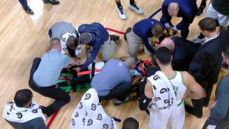Kemba Walker Stretchered Off Court With Apparent Neck Injury After Running Headfirst Into Teammate