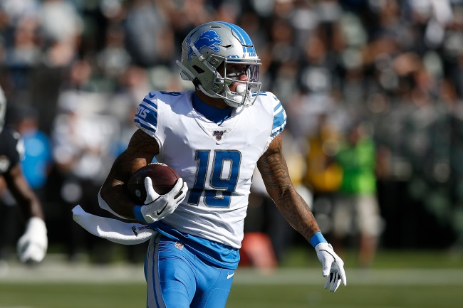 NFL refs screw up again when cameras catch Kenny Golladay spotting the ball for additional yardage