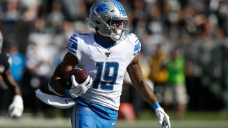 NFL Refs Once Again Screw Up When Video Catches Lions' Kenny Golladay Spotting The Ball Himself For Additional Yardage