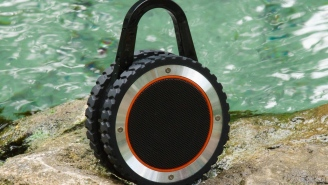 This All-Terrain Rugged Outdoor Bluetooth Speaker Is Completely Waterproof And Built To Go Anywhere With You