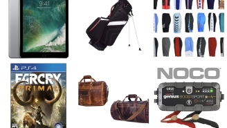Woot Daily Deals: Leather Travel Bags, Golf Stands, iPads, Loungewear, Chefs Knives