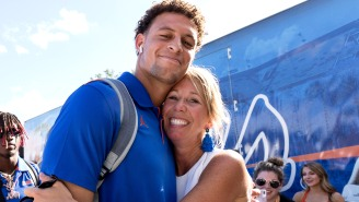 The Internet Is Very Disturbed By The University Of Florida Coach's Wife Kissing All Of The Team's Players