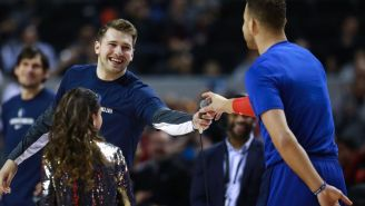 Blake Griffin Had A Priceless Response After Luka Doncic Schooled Him In Spanish Prior To A Game In Mexico City