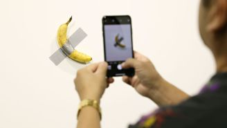 Someone Replaced The Banana That Sold For $120,000 At Art Basel With 'Epstein Didn't Kill Himself' Graffiti