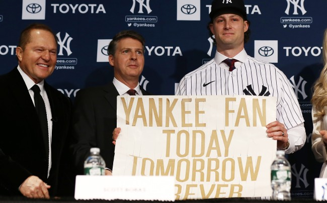 Fans Turn The Yankees Sign Gerrit Cole Made When He Was 11 Into A Meme