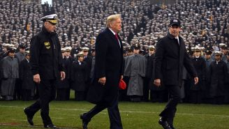 President Donald Trump Gets Loud Cheers From Crowd At Army-Navy Game