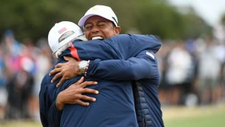 Tiger Woods Fighting Back Tears After His U.S. Team Clinched The Presidents Cup Was The Perfect Ending To A Drama-Filled Week