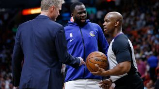 Draymond Green Complains About The Delay Of Game Situation In The NBA After Trying To Check-In With Warmups And Heating Pads On