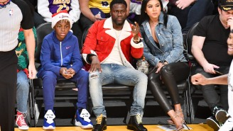 Anthony Davis Fell Onto Kevin Hart's Lap Courtside During The Lakers Game And Got The Meme Treatment