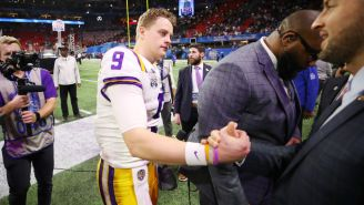 Joe Burrow Found Out About The Passing Of LSU's OC's Daughter-In-Law During Postgame Interview And It's Tough To Watch