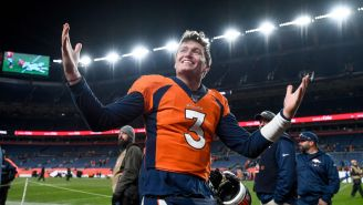 Drew Lock Intensely Rapping Jeezy's 'Put On' On The Broncos Sideline Is The Good Stuff