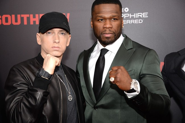 Nick Cannon is involved in a rap beef with Eminem as well as a battle on Instagram with 50 Cent where they roast each other with bikini and slave photos and memes.