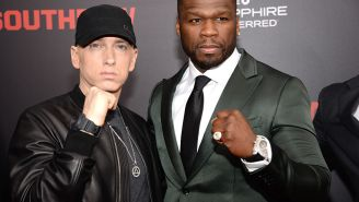 50 Cent Roasts Nick Cannon With Bikini Photo Following Rap Beef With Eminem