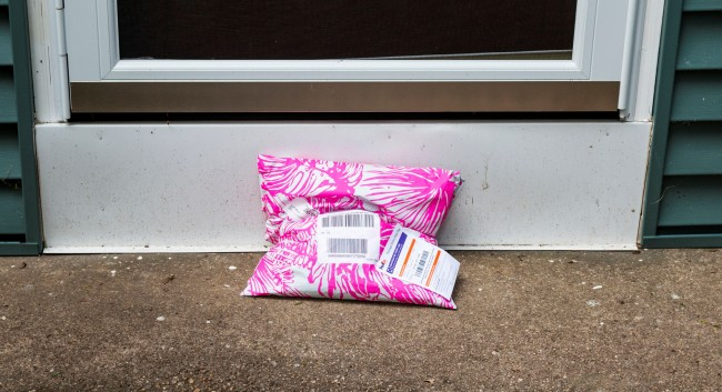 package left on porch