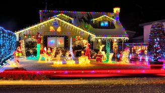 Jeffrey Epstein Conspiracy Theory Memes Are Now Christmas Light Displays, Ugly Christmas Sweaters And Ornaments
