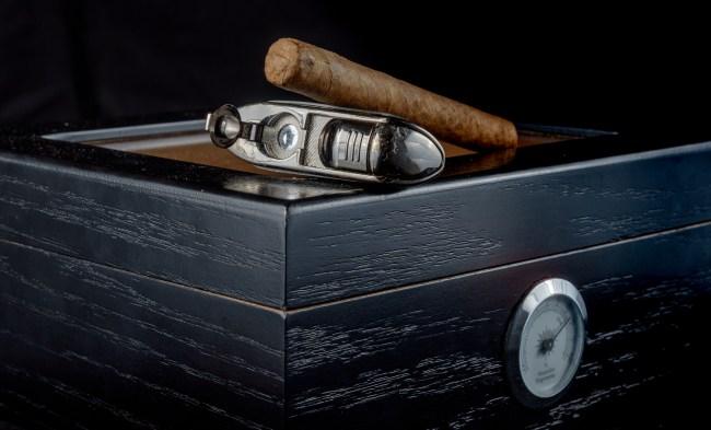 cigar on humidor
