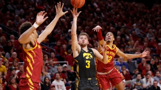 Iowa Hoops Player Jordan Bohannon Savagely Left His Signed Shoes On Rival Iowa State's Court After Blowout Win