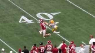 Refs Miss Obvious Pass Interference On LSU In Peach Bowl And Oklahoma Sooner Fans Are Angry