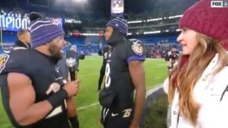 Ravens RB Mark Ingram Delivers Amazing Postgame Interview With Lamar Jackson