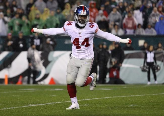 Markus Golden of the New York Giants got a $1 million bonus after a stat correction gave him 10 sacks on the season