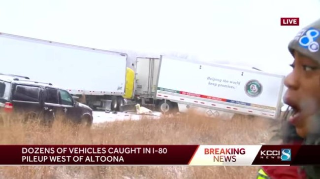 Massive 50-Car Interstate Pileup Caused By A Dusting Of Snow On I-80