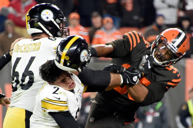 Cleveland Browns fan gets a detailed tattoo of the Myles Garrett-Mason Rudolph helmet incident