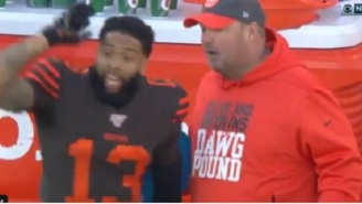 Odell Beckham Gets Heated And Yells At Browns Head Coach Freddie Kitchens On The Sidelines During Game Vs Ravens