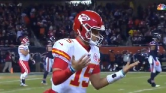 Patrick Mahomes Trolls The Bears For Drafting Mitch Trubisky Ahead Of Him After Scoring TD