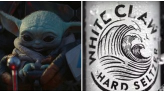 This Majestic Baby Yoda And White Claw Tattoo Is The Millennial Generation's Mona Lisa