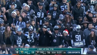 Raiders Fans Boo Derek Carr, Throw Trash On The Field After Loss In Final Game In Oakland