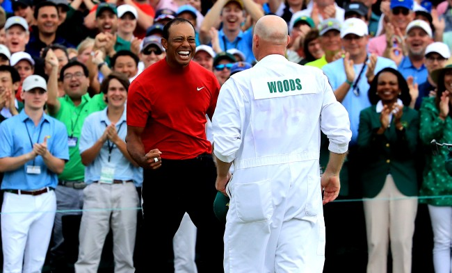 Tiger Woods And His Caddie Drank Beers And Watched The Masters