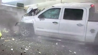Wild Video Shows A Truck Bursting Through The Wall Of A Florida Airport Like The Dang Kool-Aid Man