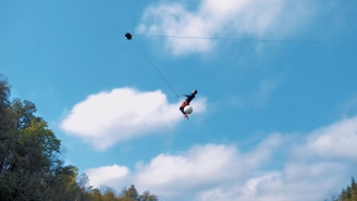 This Extreme Rope Swing x Zipline Catapult Could Change Summers At The Lake Forever