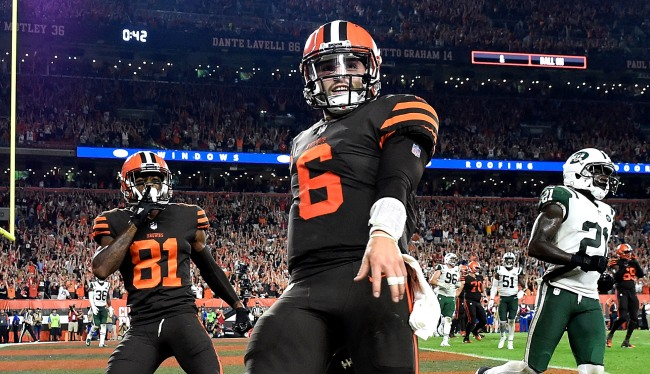 Baker Mayfield Looks Like Least Athletic Person In Pic Of NFL Players