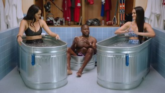 The Bella Twins, Nikki And Brie, Took Over Kevin Hart's Ice Tub, Made Him Sit In A Bucket On 'Cold As Balls'